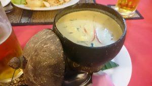 クメール料理 アモック 味はココナッツカレー@シェムリアップ観光