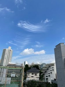 五反田の変な雲